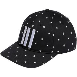 アディダス 帽子 アクセサリー メンズ adidas Men's Allover Print Shield Golf Hat Black astyshop