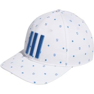 アディダス 帽子 アクセサリー メンズ adidas Men's Allover Print Shield Golf Hat White astyshop