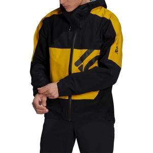 アディダス ジャケット&ブルゾン アウター メンズ adidas Men's Five Ten All-Mountain Rain Jacket Black/Hazy Yellow astyshop