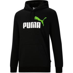 プーマ パーカー・スウェットシャツ アウター メンズ Puma Men's 2 Color Big Logo Hoodie Black/Green astyshop