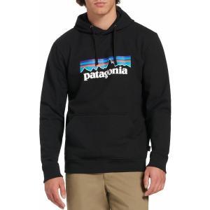 パタゴニア パーカー・スウェットシャツ アウター メンズ Patagonia Men's P-6 Logo Uprisal Hoodie Black|astyshop