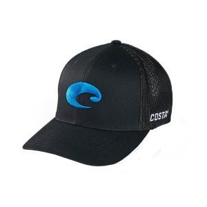 コスタデルマール 帽子 アクセサリー メンズ Costa Del Mar Men's Flex Fit Logo Trucker Hat Black astyshop