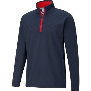 プーマ ジャケット&ブルゾン アウター メンズ PUMA Men's Volition Tried and True 1/4 Zip Golf Pullover Navy Blazer astyshop