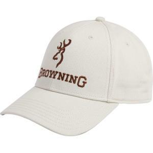 ブロウニング 帽子 アクセサリー メンズ Browning Men's Deluxe Tan Buck Mark Hat White astyshop
