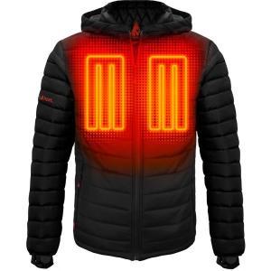 アクションヒート ジャケット&ブルゾン アウター メンズ ActionHeat Men's 5V Battery Heated Insulated Puffer Jacket Black astyshop