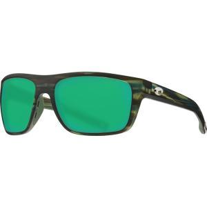 コスタデルマール サングラス・アイウェア アクセサリー メンズ Costa Del Mar Broadbill 580P Polarized Sunglasses Matte Reef Frame/Grn Mir astyshop