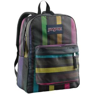 ジャンスポーツ バックパック・リュックサック バッグ メンズ JanSport Superbreak Backpack Black/Multi Disco Dot|astyshop