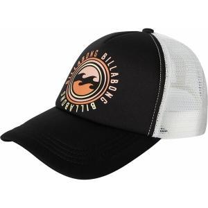 ビラボン 帽子 アクセサリー レディース Billabong Women's Across Waves Trucker Hat Black|astyshop