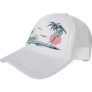 ビラボン 帽子 アクセサリー レディース Billabong Women's Across Waves Trucker Hat Juniper|astyshop