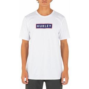 ハーレー Tシャツ トップス メンズ Hurley Men's Box Solid Short Sleeve T-Shirt White astyshop