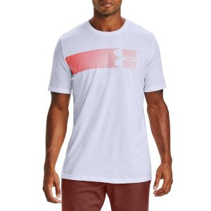 アンダーアーマー Tシャツ トップス メンズ Under Armour Men's Fast Left Chest Logo Graphic T-Shirt White/Beta astyshop