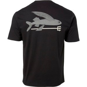 パタゴニア Tシャツ トップス メンズ Patagonia Men's Flying Fish Organic Cotton T-Shirt Black astyshop