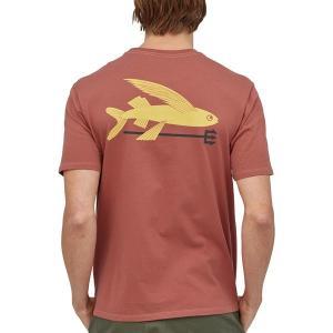 パタゴニア Tシャツ トップス メンズ Patagonia Men's Flying Fish Organic Cotton T-Shirt SpanishRed astyshop