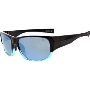 ハーレー サングラス・アイウェア アクセサリー メンズ Hurley Dawn Patrol Sunglasses Black/Aqua astyshop