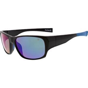 ハーレー サングラス・アイウェア アクセサリー メンズ Hurley Dawn Patrol Sunglasses Matte Black/Blue astyshop