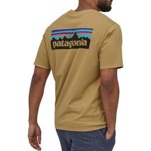 パタゴニア Tシャツ トップス メンズ Patagonia Men's P-6 Logo Organic Short Sleeve T-Shirt ClassicTan astyshop