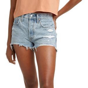 リーバイス カジュアルパンツ ボトムス レディース Levi's Women's 501 Original High-Rise Jeans Shorts Athens Swell|astyshop