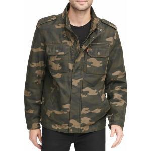 リーバイス ジャケット&ブルゾン アウター メンズ Levi's Men's Washed Cotton Military Jacket Camouflage|astyshop