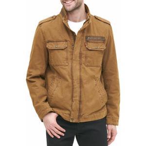 リーバイス ジャケット&ブルゾン アウター メンズ Levi's Men's Washed Cotton Military Jacket Worker Brown|astyshop