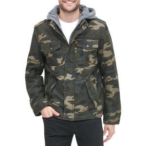 リーバイス ジャケット&ブルゾン アウター メンズ Levi's Men's Sherpa Lined Hooded Utility Jacket Camouflage|astyshop