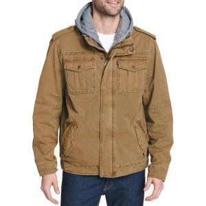 リーバイス ジャケット&ブルゾン アウター メンズ Levi's Men's Sherpa Lined Hooded Utility Jacket Worker Brown|astyshop
