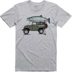 シムズ Tシャツ トップス メンズ Simms Men's Trout Cruiser T-Shirt GreyHeather astyshop
