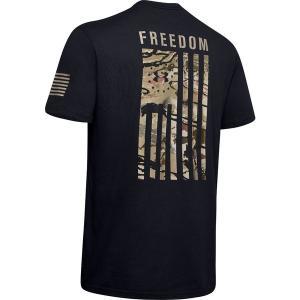 アンダーアーマー Tシャツ トップス メンズ Under Armour Men's Freedom Flag Camo T-Shirt (Regular and Big & Tall) Black/CanyonGreen astyshop
