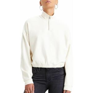 リーバイス パーカー・スウェットシャツ アウター レディース Levi's Women's Pom  Zip Sweatshirt Tofu|astyshop
