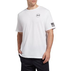 アンダーアーマー Tシャツ トップス メンズ Under Armour Men's Freedom Flag T-Shirt White astyshop