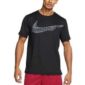ナイキ Tシャツ トップス メンズ Nike Men's Hyper Dry Graphic Tee Black astyshop