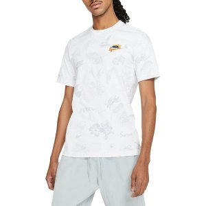 ナイキ Tシャツ トップス メンズ Nike Men's Sportswear Spreak Break Short Sleeve T-Shirt White astyshop