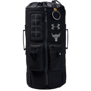 アンダーアーマー バックパック・リュックサック バッグ メンズ Under Armour Men's Project Rock 60 Gym Bag Black/Black|astyshop