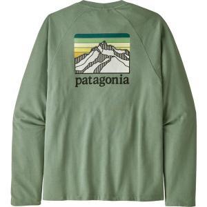 パタゴニア パーカー・スウェットシャツ アウター メンズ Patagonia Men's Line Logo Ridge Lightweight Crew Sweatshirt EllwoodGreen|astyshop