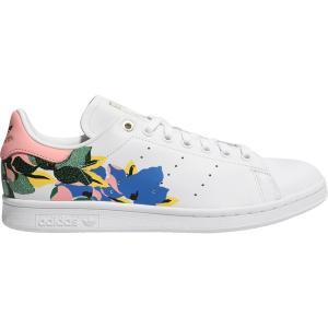 アディダス スニーカー シューズ レディース adidas Originals Women's Floral Stan Smith Shoes White/Pink/Gold astyshop