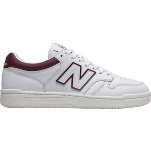 ニューバランス スニーカー シューズ メンズ New Balance Men's BB480 Shoes White/Red|astyshop