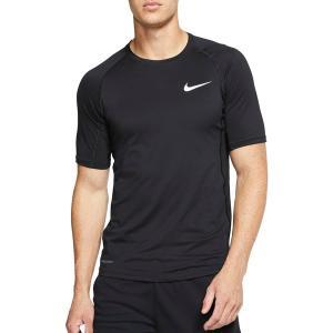 ナイキ Tシャツ トップス メンズ Nike Men's Pro Slim T-Shirt (Regular and Big & Tall) Black/White astyshop