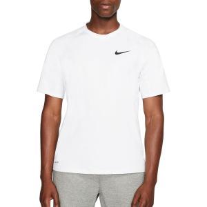 ナイキ Tシャツ トップス メンズ Nike Men's Pro Slim T-Shirt (Regular and Big & Tall) White/Black astyshop