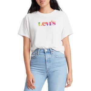 リーバイス シャツ トップス レディース Levi's Women's Varsity Graphic T-Shirt White|astyshop