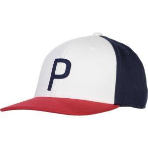 プーマ 帽子 アクセサリー メンズ PUMA Men's Throwback P 110 Snapback Golf Hat BrightWhitePeacoat...