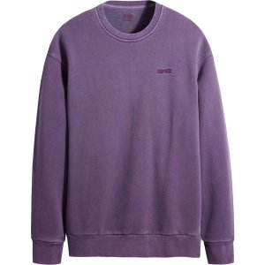 リーバイス パーカー・スウェットシャツ アウター メンズ Levi's Men's Relaxed Crewneck Sweatshirt Loganberry Garment Dye|astyshop