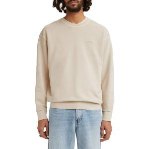リーバイス パーカー・スウェットシャツ アウター メンズ Levi's Men's Relaxed Crewneck Sweatshirt Pumice Strone Garment Dye|astyshop