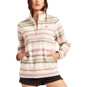 ビラボン パーカー・スウェットシャツ アウター レディース Billabong Women's Boundary Half-Zip Fleece Pullover Fig|astyshop