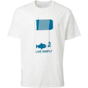 パタゴニア Tシャツ トップス メンズ Patagonia Men's Live Simply Happy Hour Organic Cotton T-Shirt White astyshop