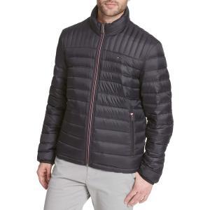 トミー ヒルフィガー ジャケット&ブルゾン アウター メンズ Tommy Hilfiger Men's Packable Logo Quilted Down Jacket Black|astyshop