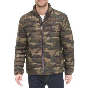 トミー ヒルフィガー ジャケット&ブルゾン アウター メンズ Tommy Hilfiger Men's Packable Logo Quilted Down Jacket Camouflage|astyshop