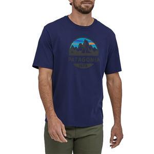 パタゴニア Tシャツ トップス メンズ Patagonia Men's Fitz Roy Scope Organic T-Shirt ClassicNavy astyshop