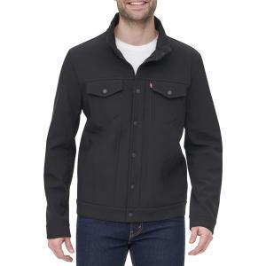 リーバイス ジャケット&ブルゾン アウター メンズ Levi's Men's Softshell Commuter Jacket Black|astyshop