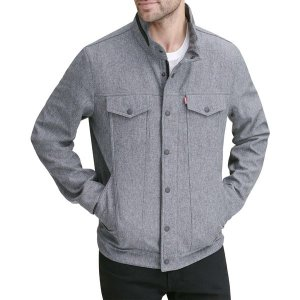 リーバイス ジャケット&ブルゾン アウター メンズ Levi's Men's Softshell Commuter Jacket Heather Grey|astyshop