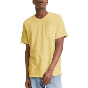 リーバイス シャツ トップス メンズ Levi's Men's Premium Sunset Pocket Graphic T-Shirt Garnet Dye Dusky|astyshop