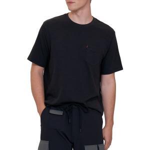 リーバイス シャツ トップス メンズ Levi's Men's Premium Sunset Pocket Graphic T-Shirt Garnet Dye Jet Black|astyshop